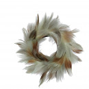 wholesale Artificial Flowers: Spring wreath Calli, D10cm, green-brown